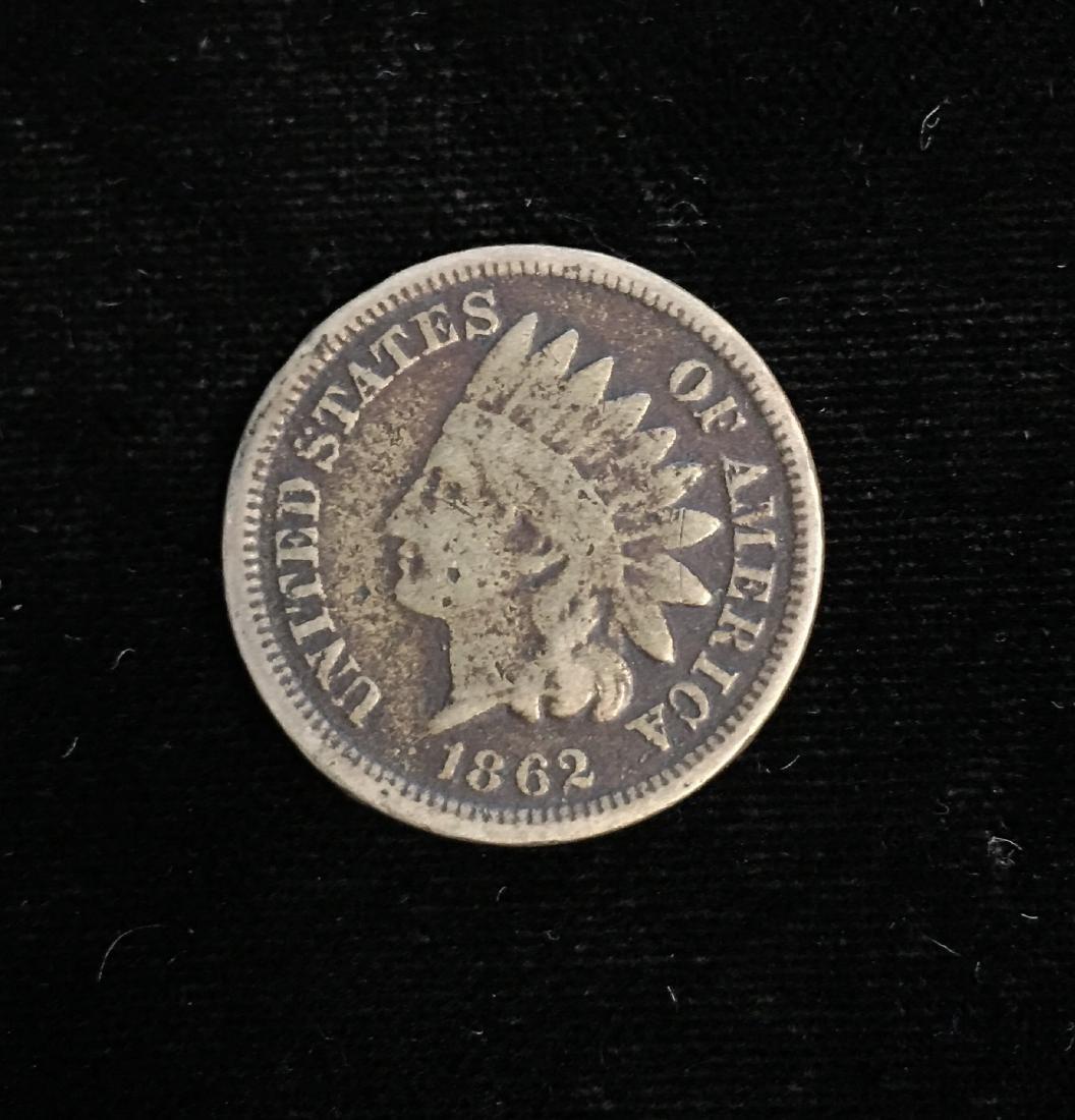 1862 1C Indian Head Cent Good