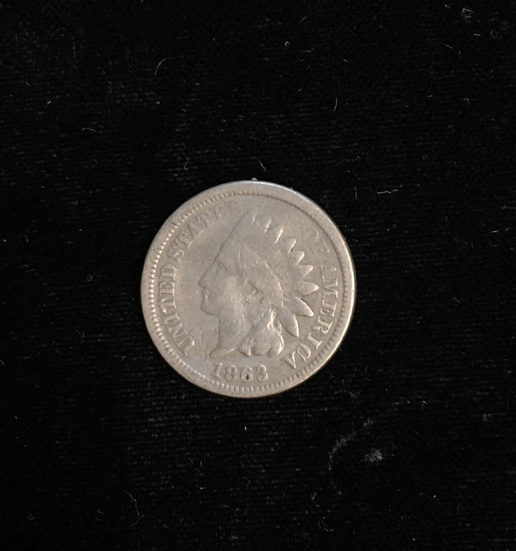 1863 1C Indian Head Cent Good