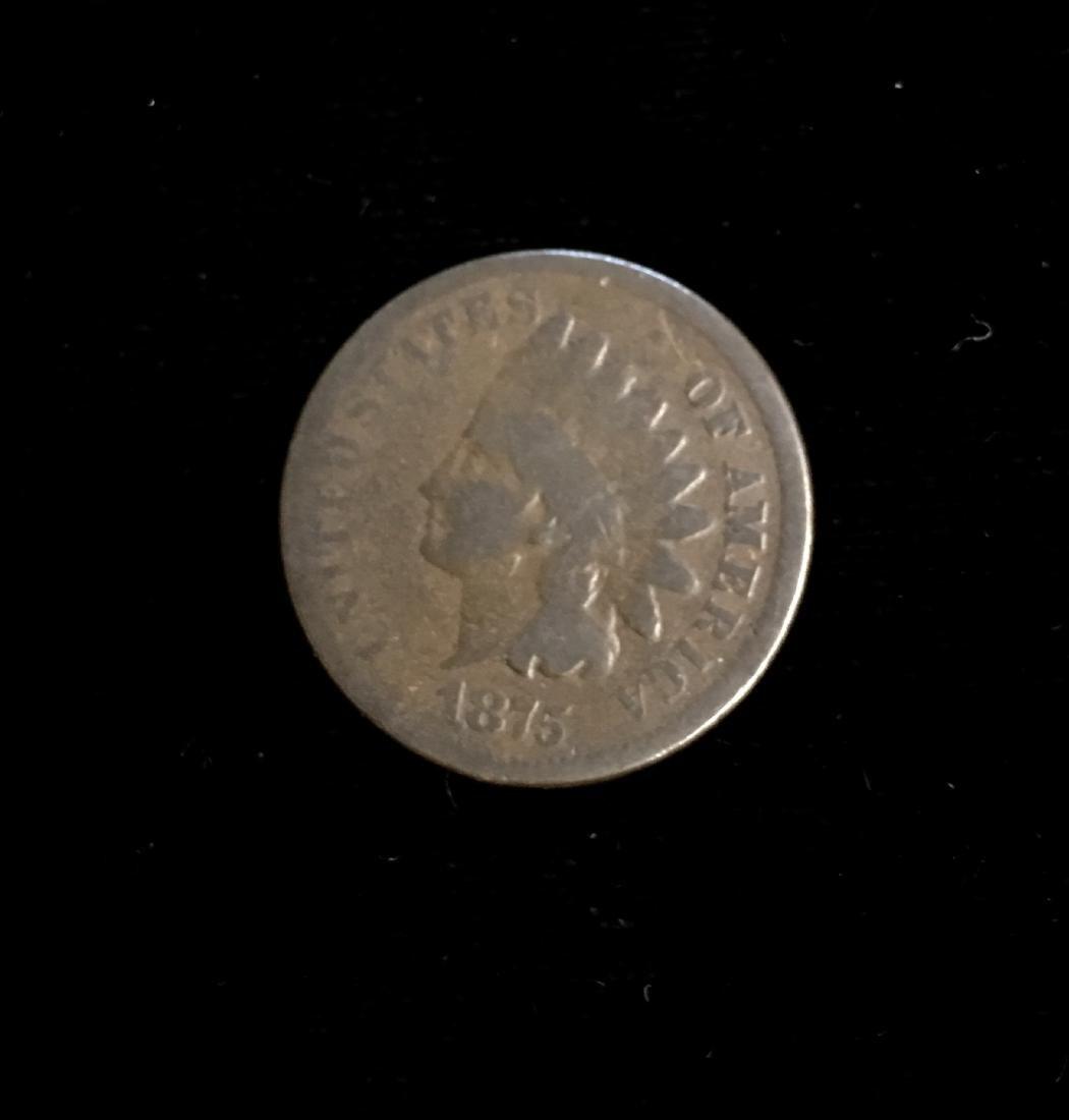 1875 1C Indian Head Cent Good