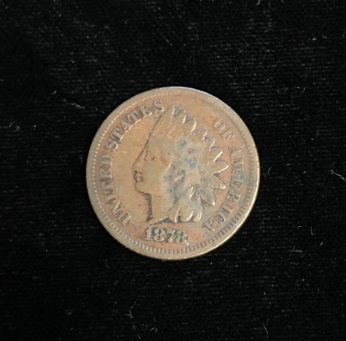 1878 1C Indian Head Cent Good