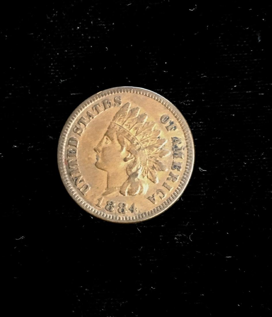 1884 1C Indian Head Cent VF