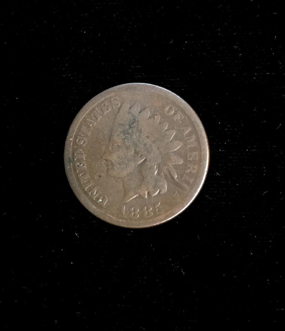 1885 1C Indian Head Cent Good