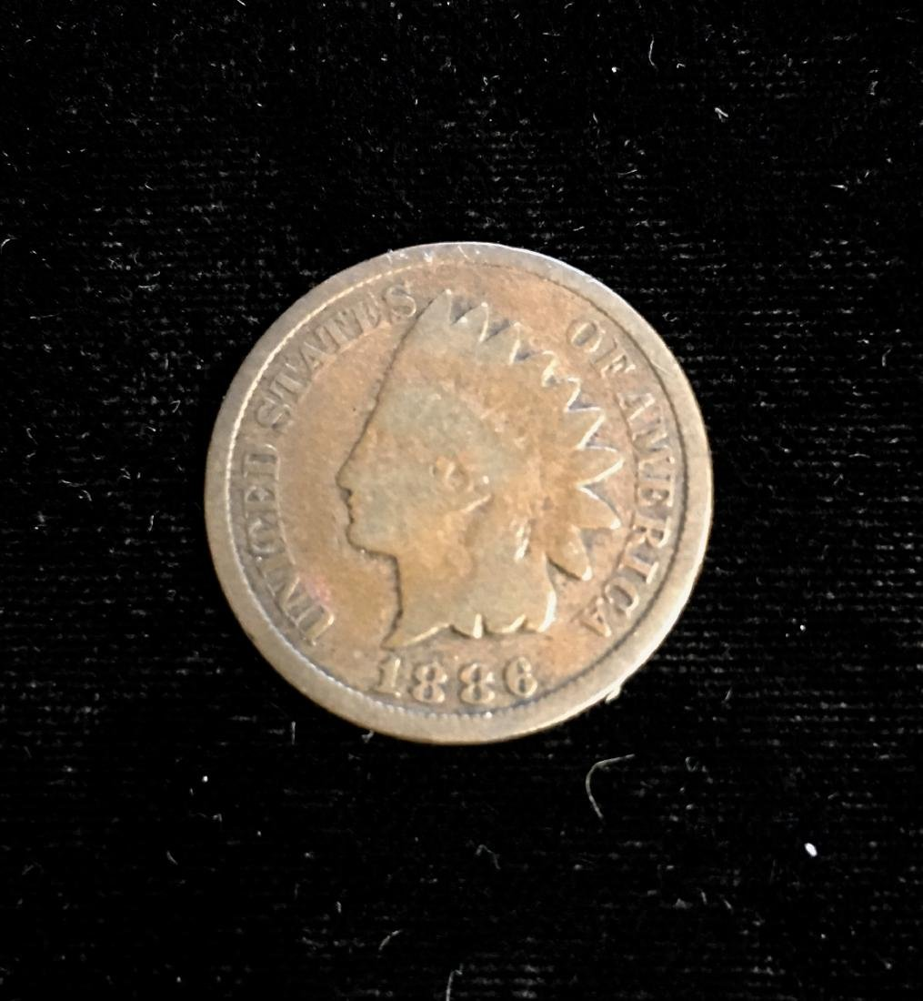 1886 1C Indian Head Cent Type II Good
