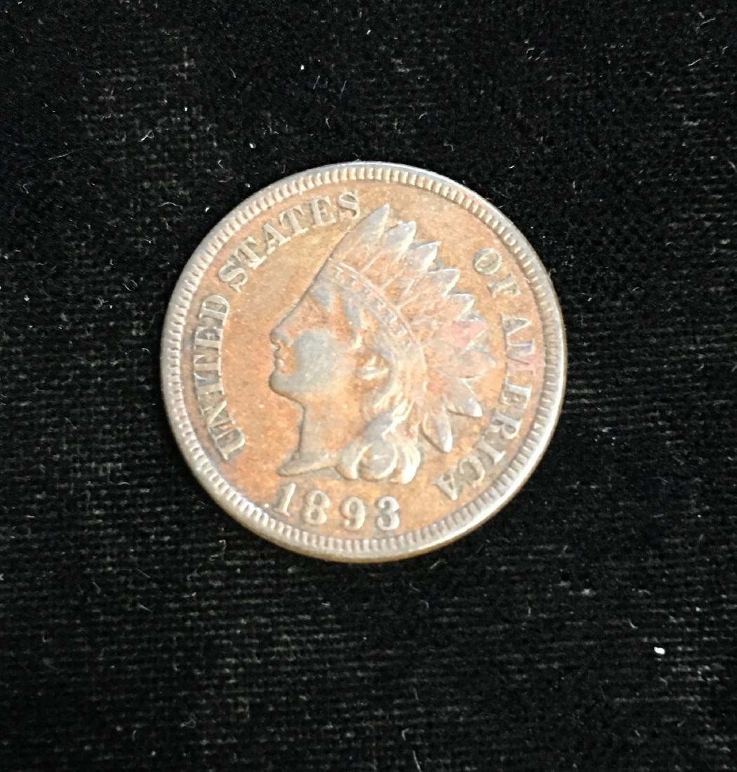 1893 1C Indian Head Cent Fine