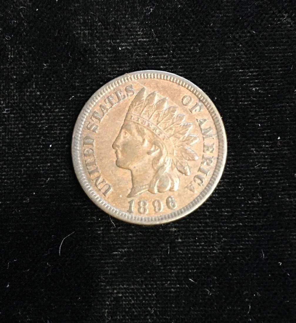 1896 1C Indian Head Cent AU