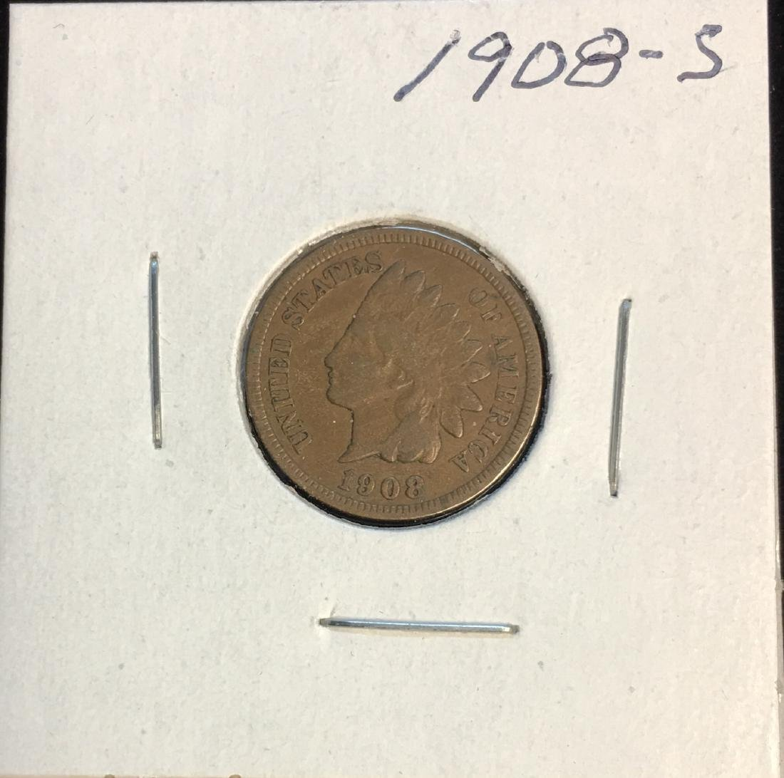 1908-S 1C Indian Head Cent VG