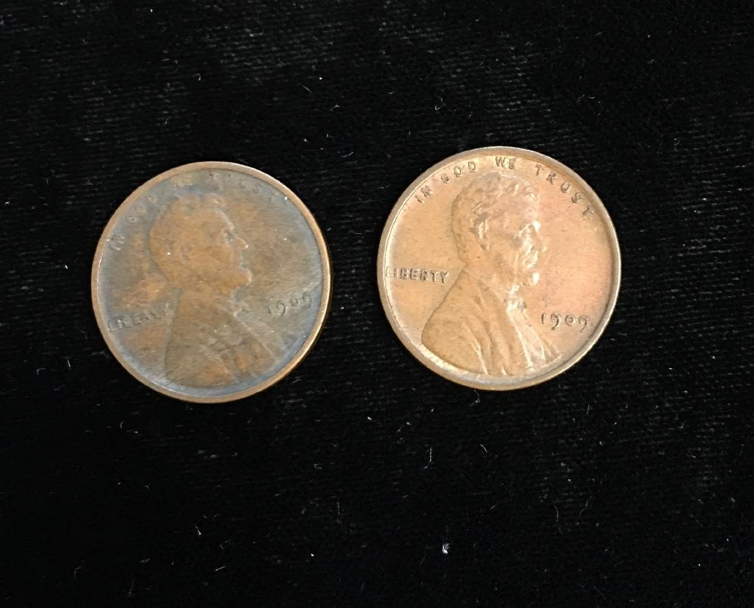Set of 2 - 1909 VDB 1c Lincoln Cent VF