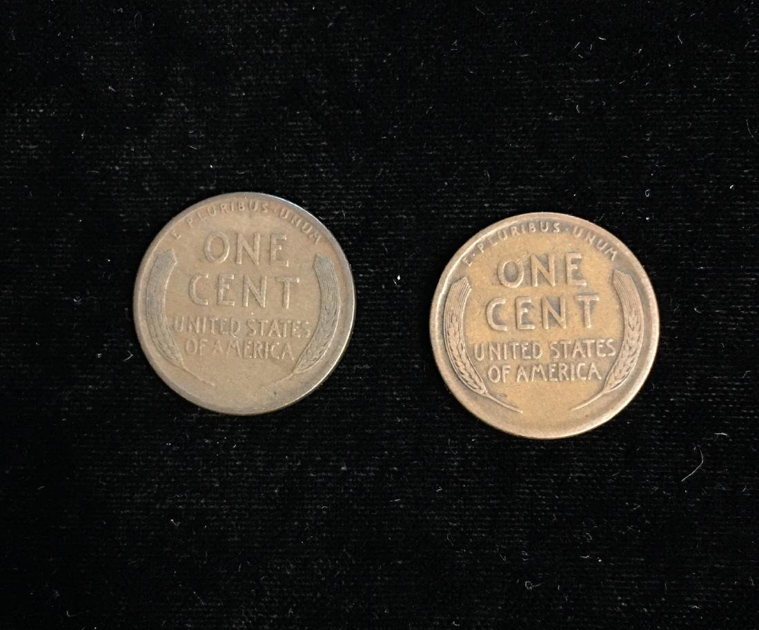 Set of 2 - 1913-S 1c Lincoln Cents Fine - 2