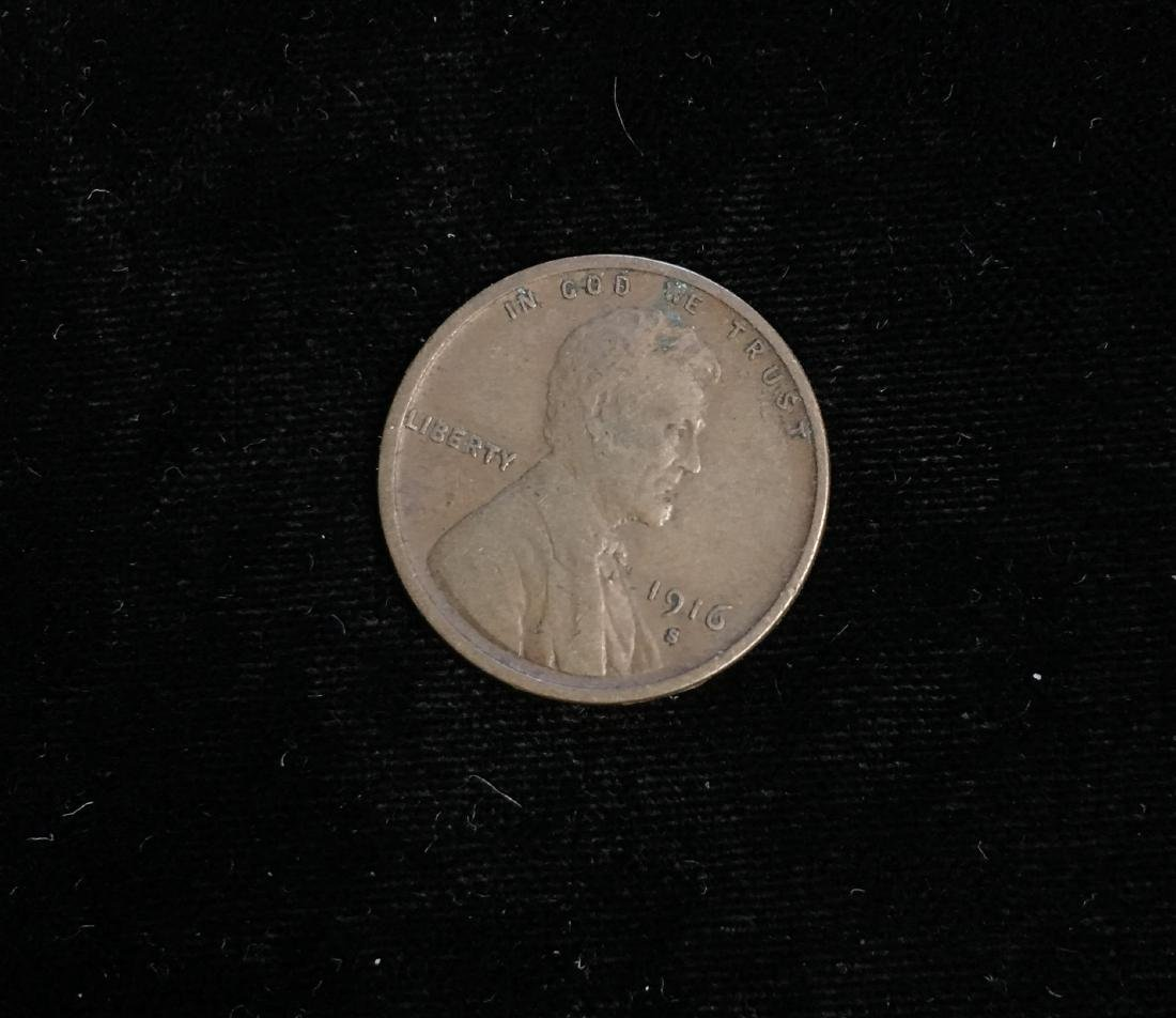 1916-S 1c Lincoln Cent Fine