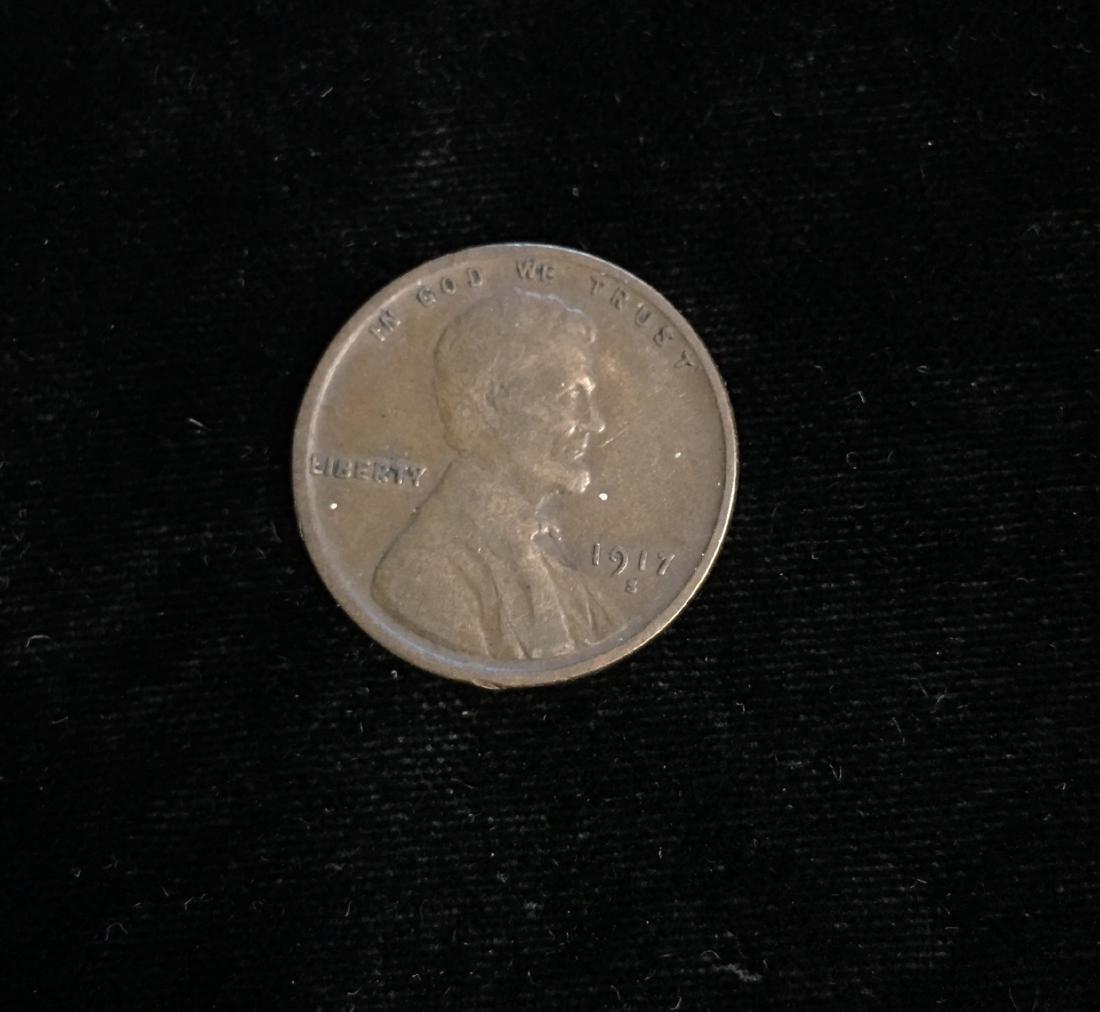 1917-S 1c Lincoln Cent Fine