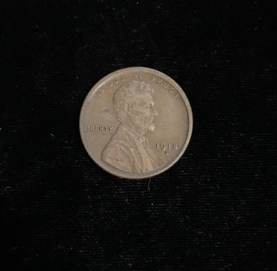 1918-S 1c Lincoln Cent XF-AU