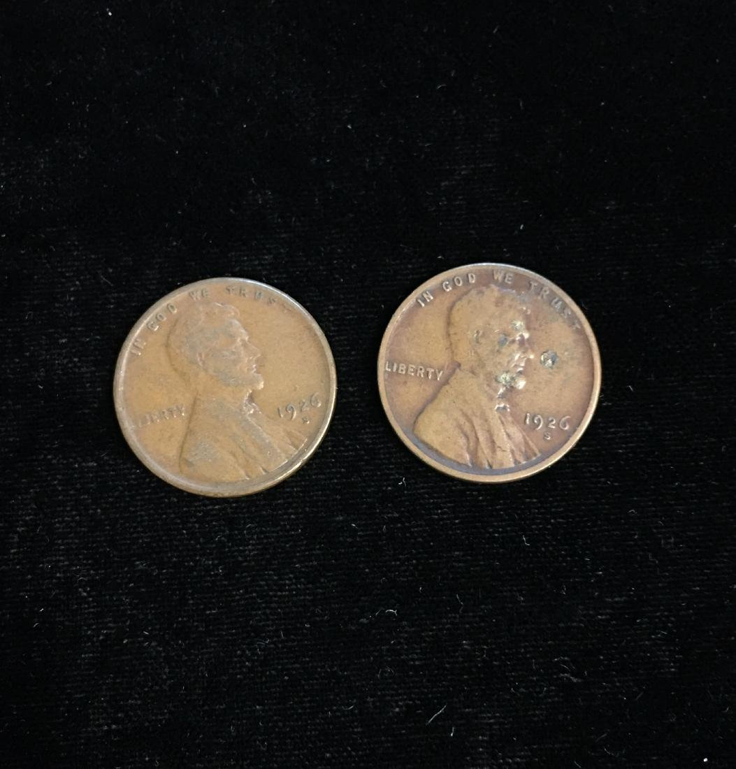 Set of 2 - 1926-S 1c Lincoln Cents at least VG