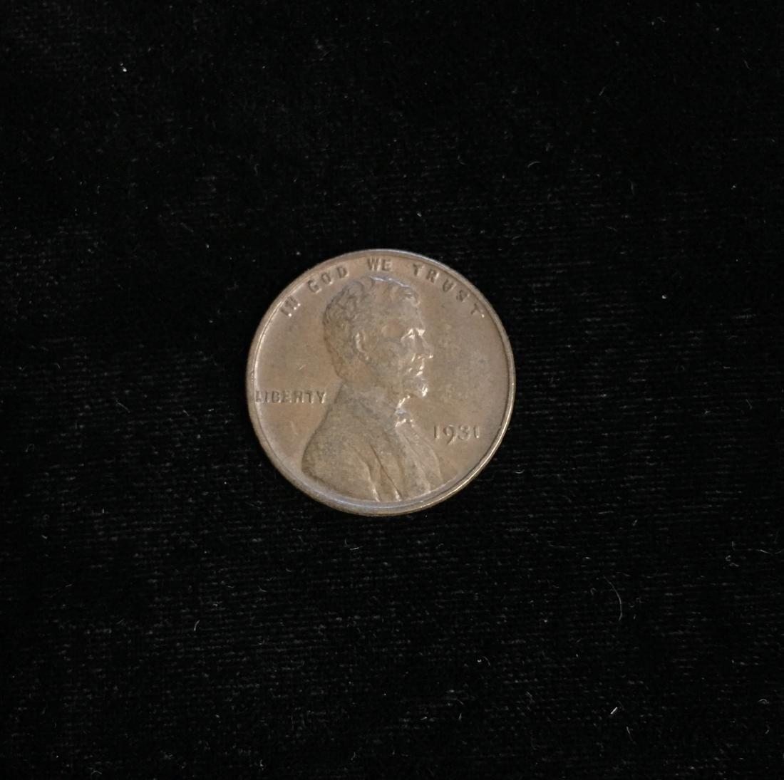 1931 1c Lincoln Cent AU
