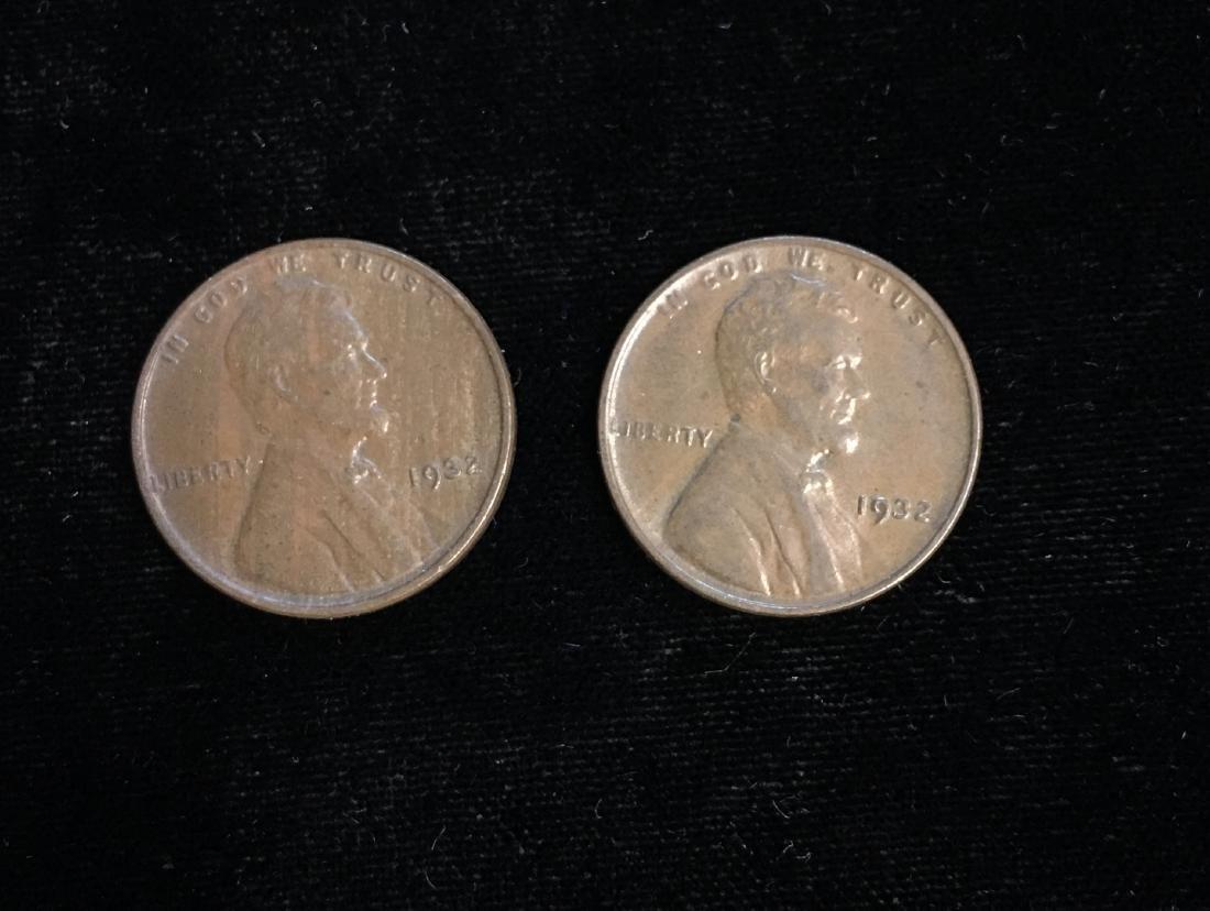 Set of 2 - 1932 1c Lincoln Cents AU