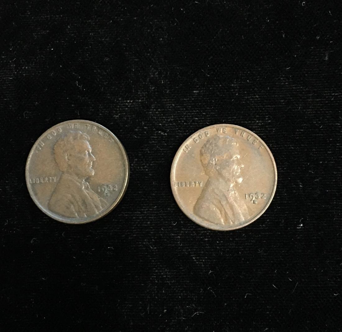 Set of 2 - 1932-D 1c Lincoln Cents AU