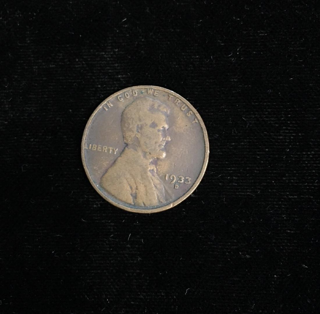 1933-D 1c Lincoln Cent Fine