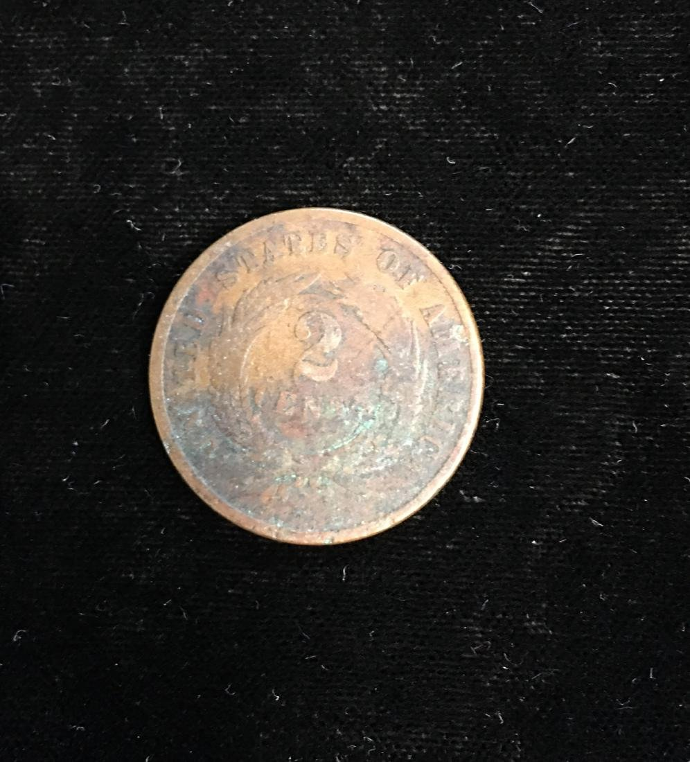 1865 2c Two-Cent Piece Good - 2