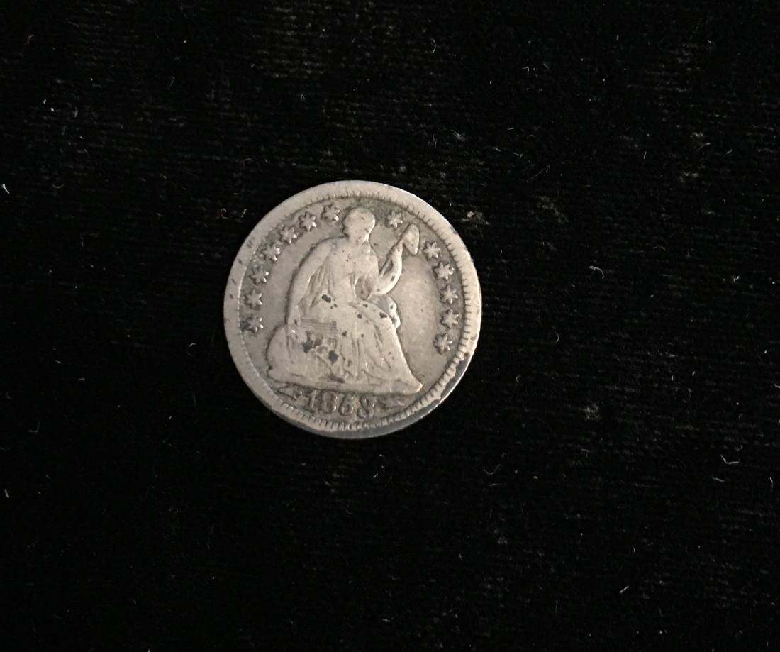 1853 5c Liberty Seated Half Dime no Arrows VG-F