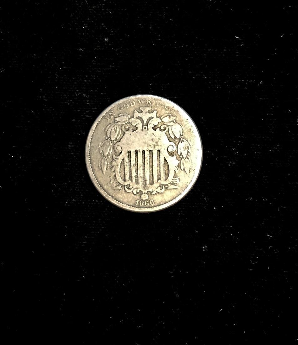 1866 5c Shield Nickel