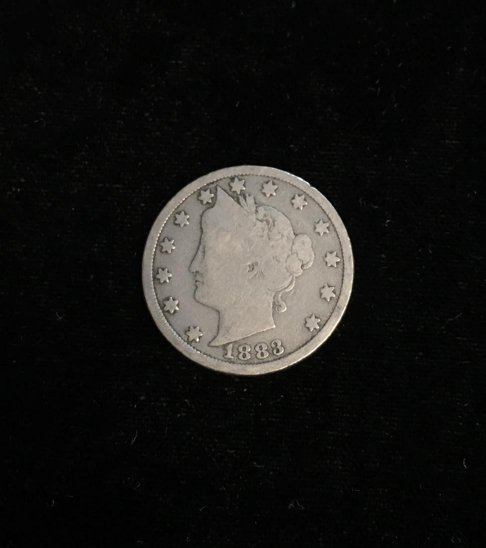 1883 5c Liberty Head Nickel no Cents Good Condition