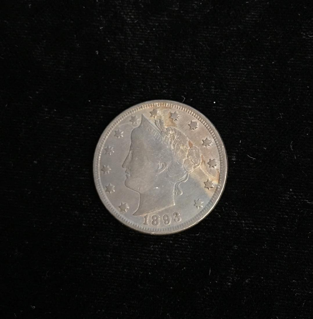 1893 5c Liberty Head Nickel Beautiful