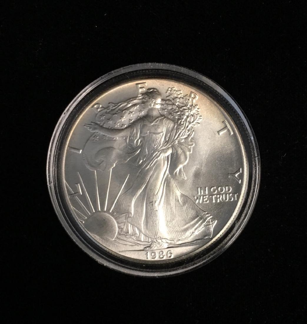 1986 $1 American Silver Eagle BU