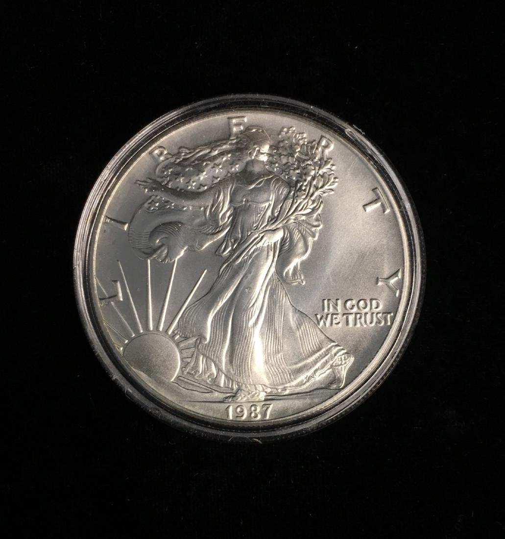 1987 $1 American Silver Eagle BU