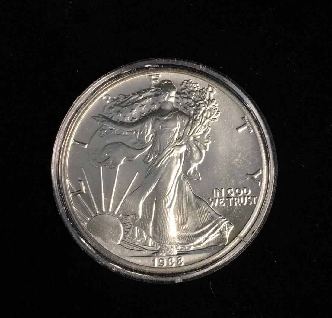 1988 $1 American Silver Eagle BU