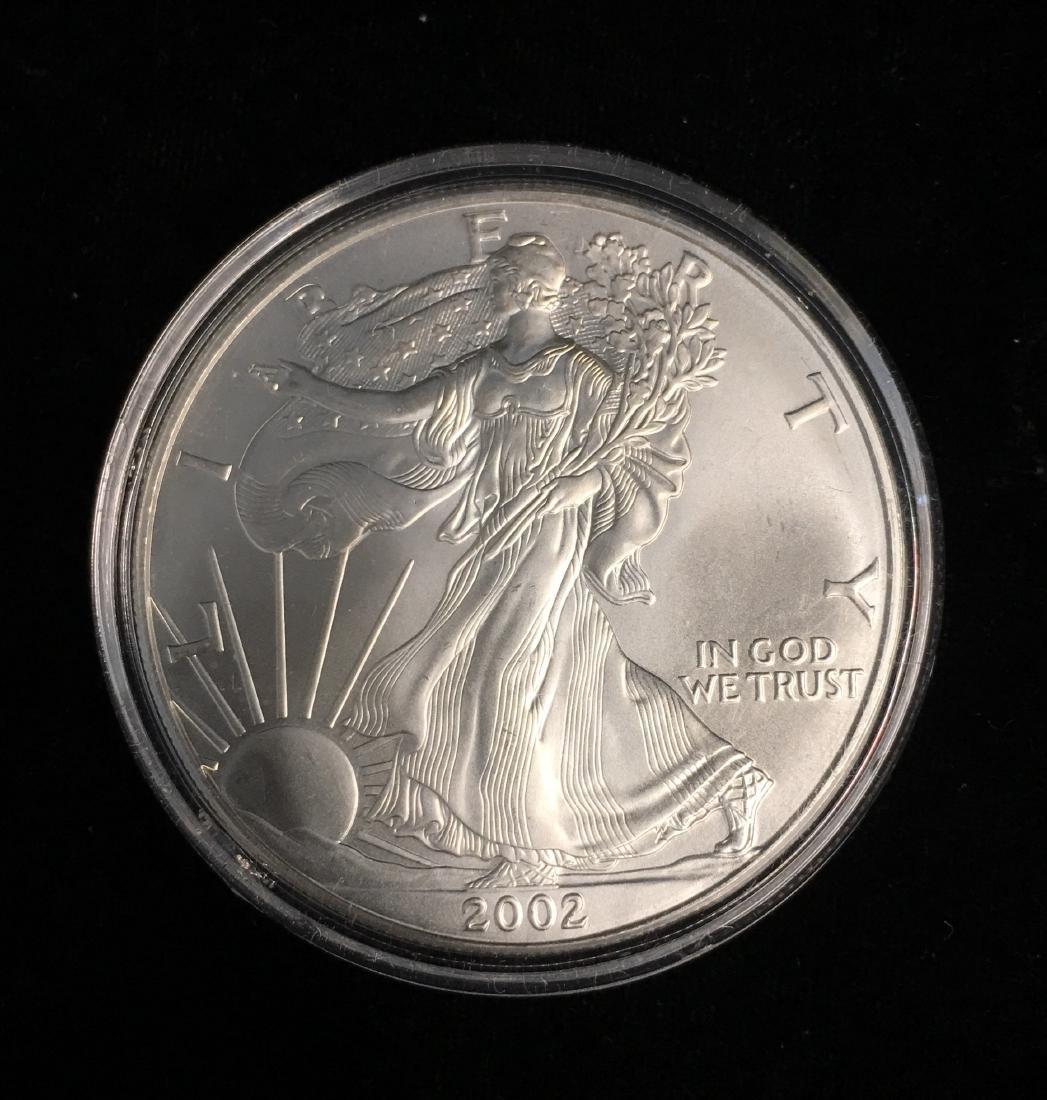 2002 $1 American Silver Eagle BU