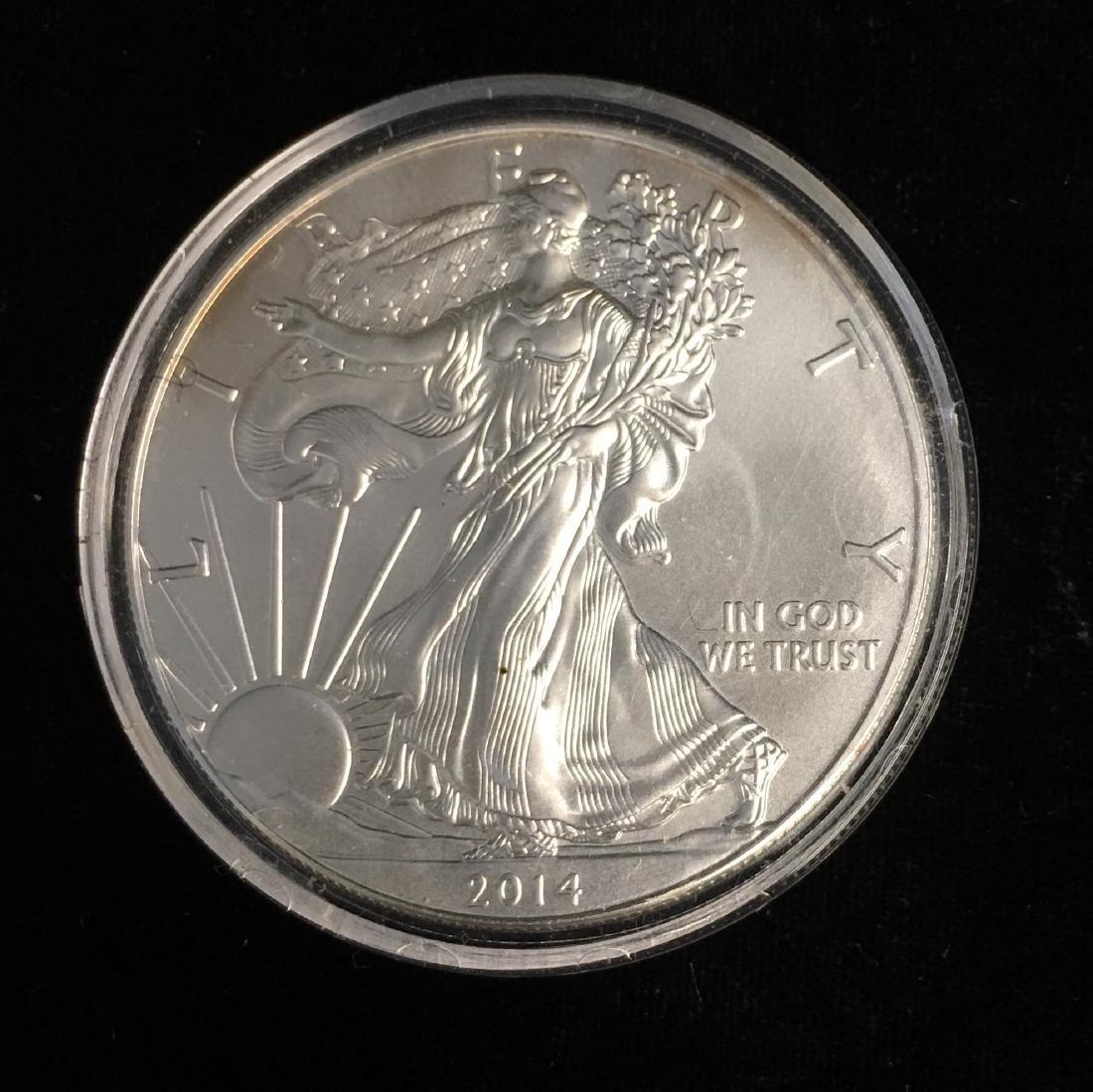 2014 $1 American Silver Eagle BU