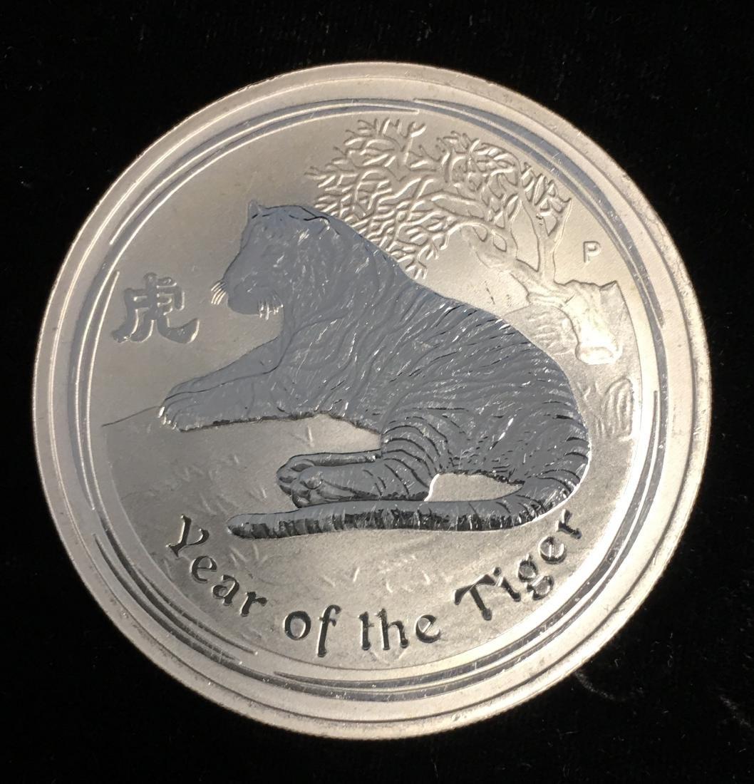 2010-P $1 Australia Year of the Tiger 1 oz. .999 Silver