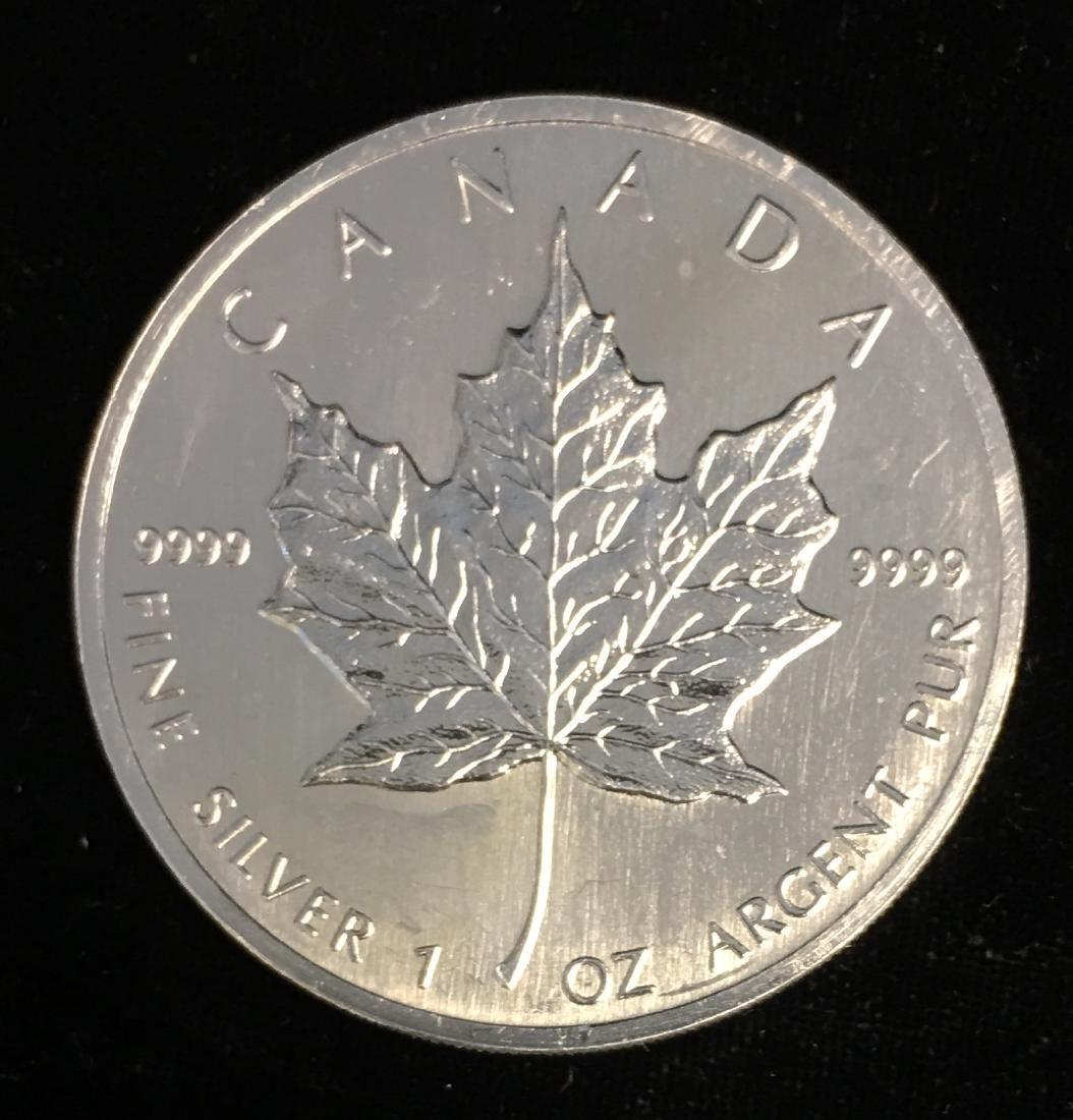 1989 $5 Canada Maple Leaf 1oz. Fine Silver BU