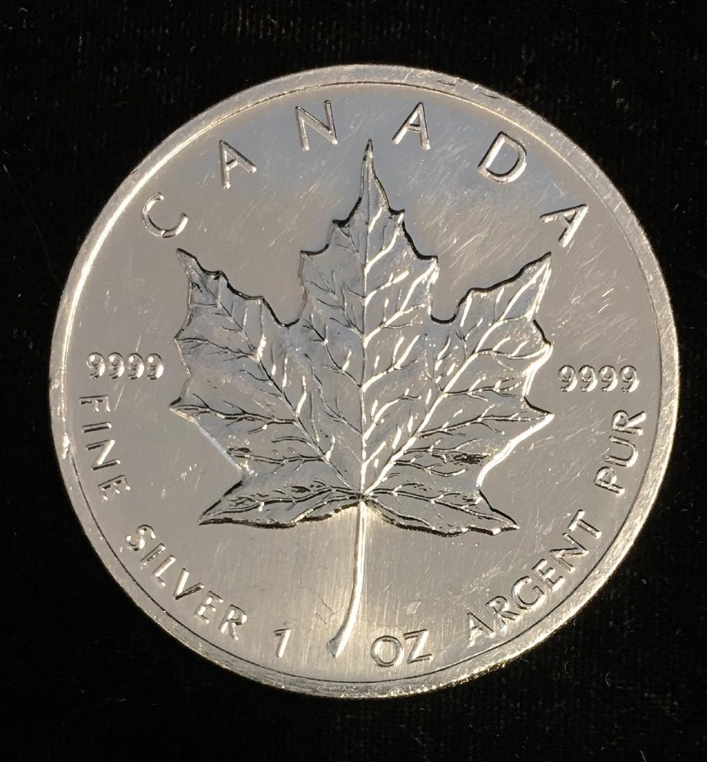 1993 $5 Canada Maple Leaf 1oz. Fine Silver BU