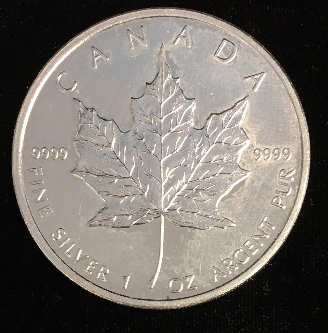 2009 $5 Canada Maple Leaf 1oz. Fine Silver BU