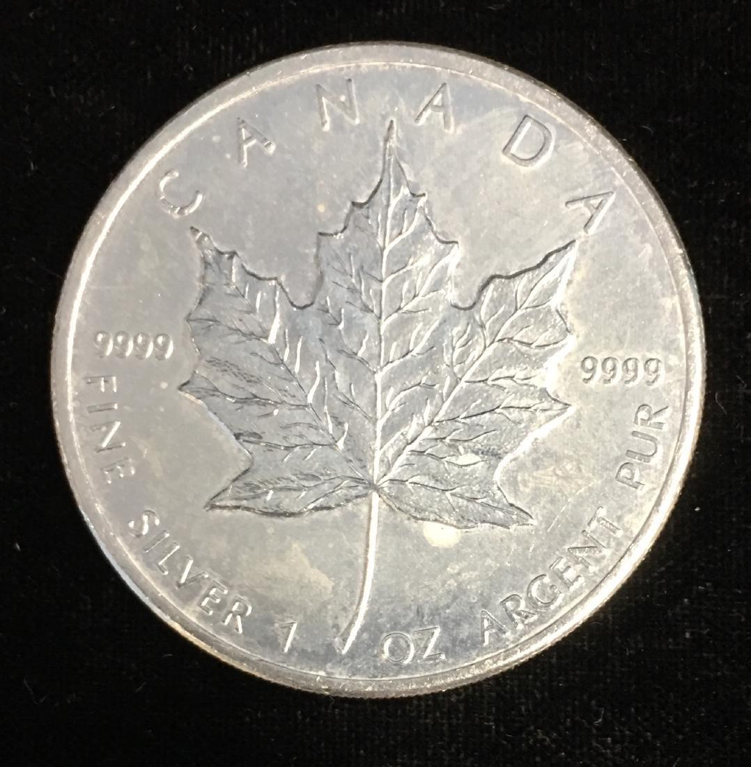 2010 $5 Canada Maple Leaf 1oz. Fine Silver BU