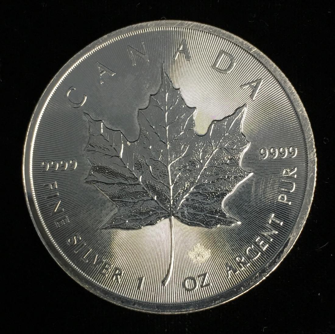 2016 $5 Canada Maple Leaf 1oz. Fine Silver GEM BU Very