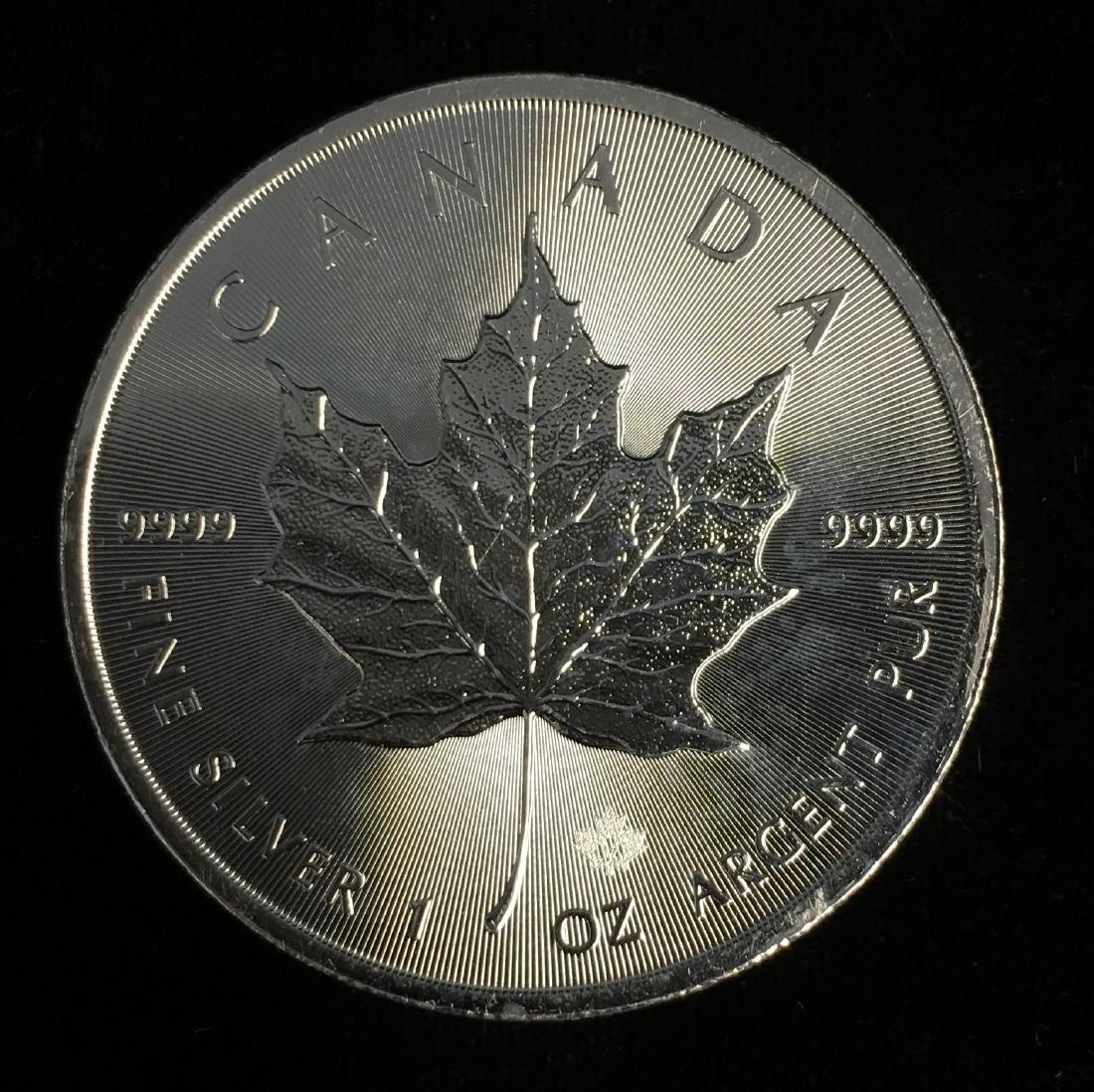 2017 $5 Canada Maple Leaf 1oz. Fine Silver GEM BU Very