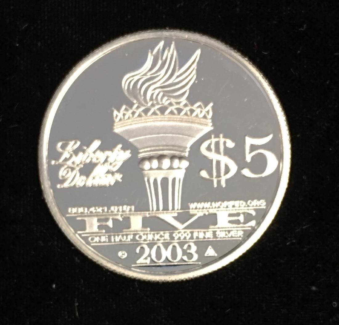 Silver Round 1/2 oz .999 Fine Silver - 2003 NORFED - 2
