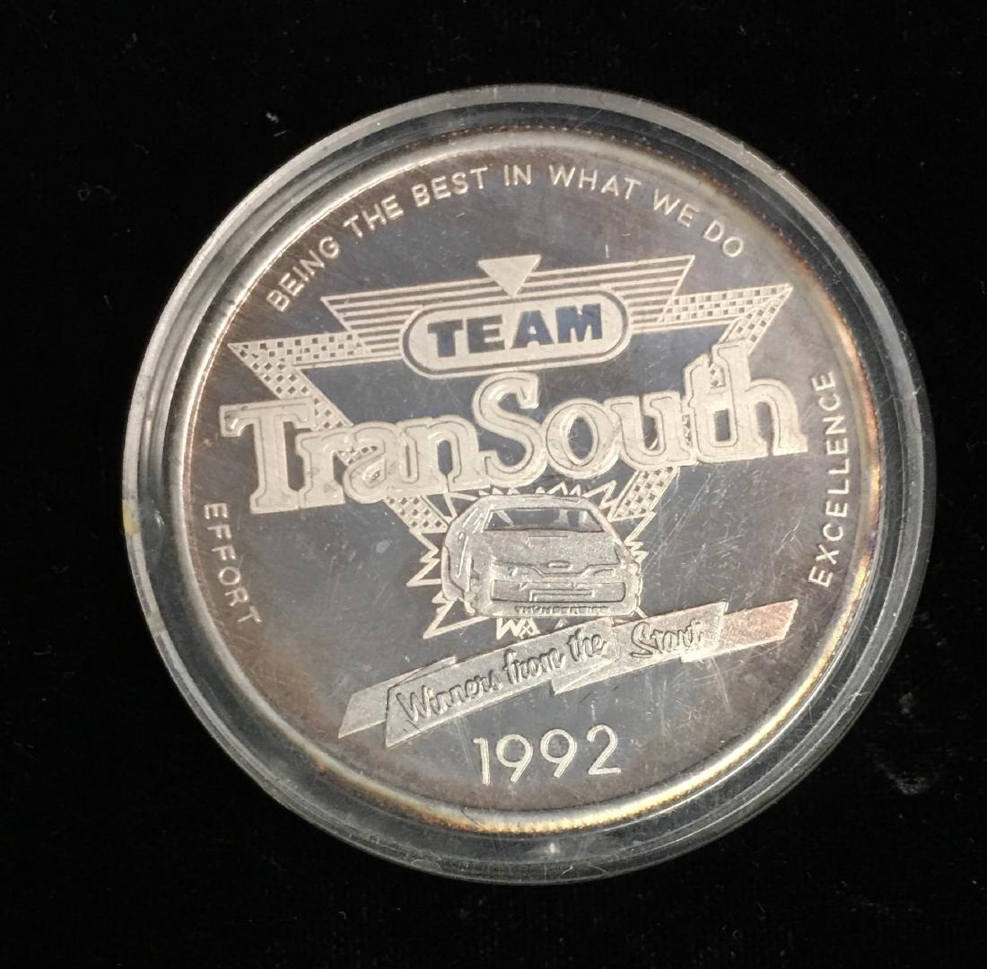 Silver Round 1 oz .999 Fine Silver - 1992 TranSouth