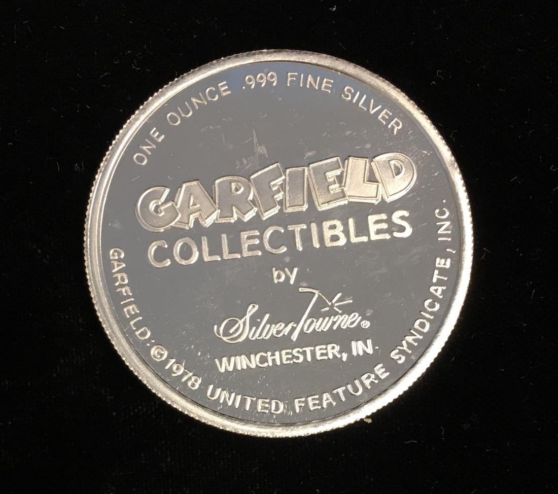 Silver Round 1 oz .999 Fine Silver - 1978 Garfield - 2