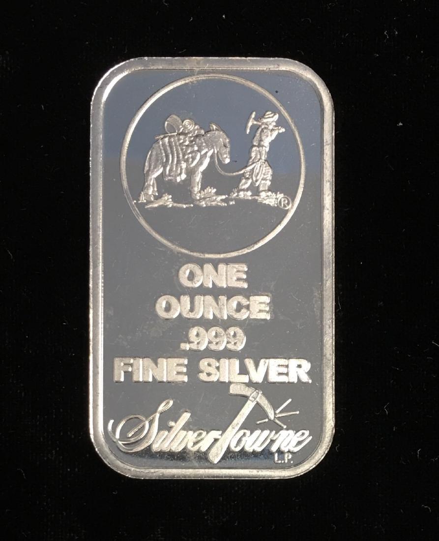 1 oz .999 Fine Silver Prospector Art Bar SilverTowne