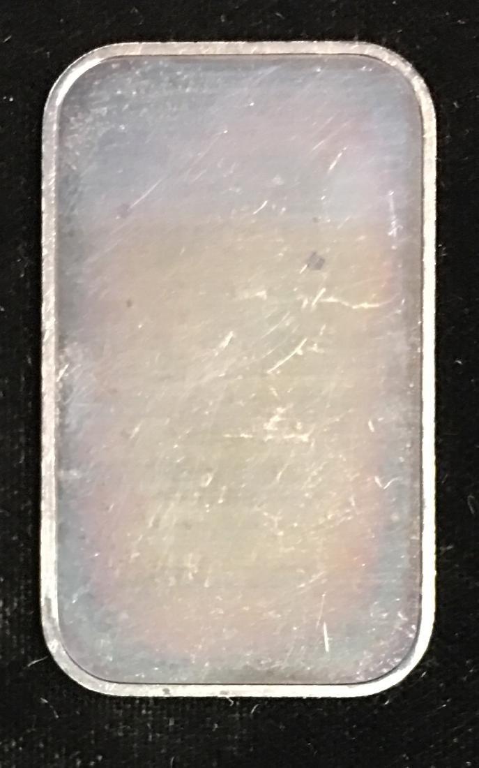 1/2 tr.oz .999 Fine Silver NBW First Class Art Bar Nice - 2