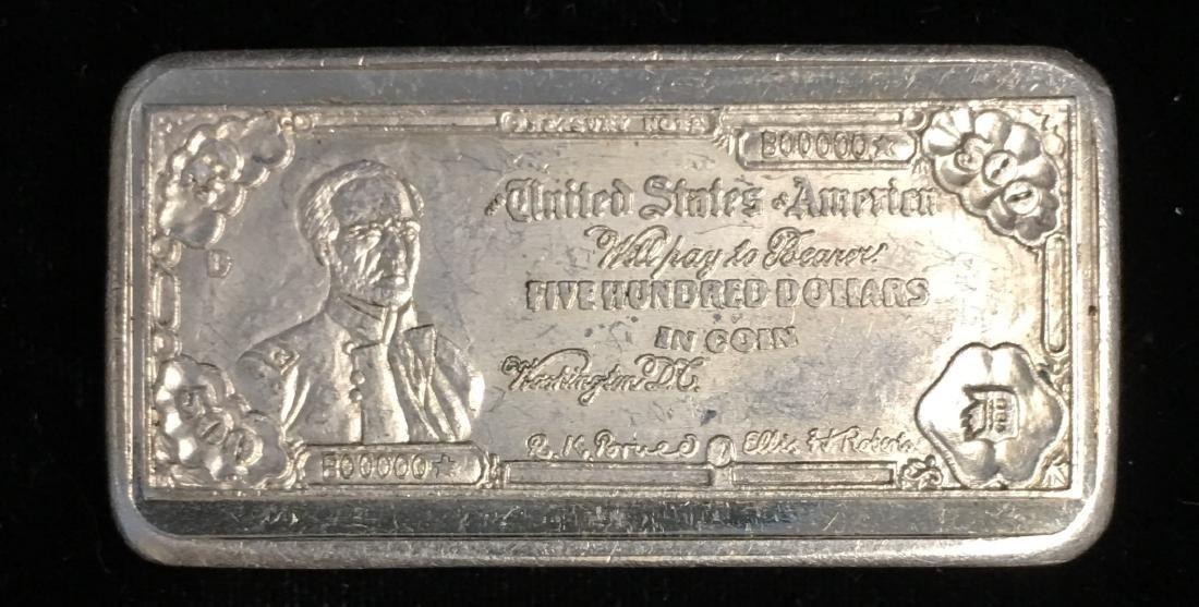 1.775 tr. oz. .999 Silver Art Bar $500 Limited Edition