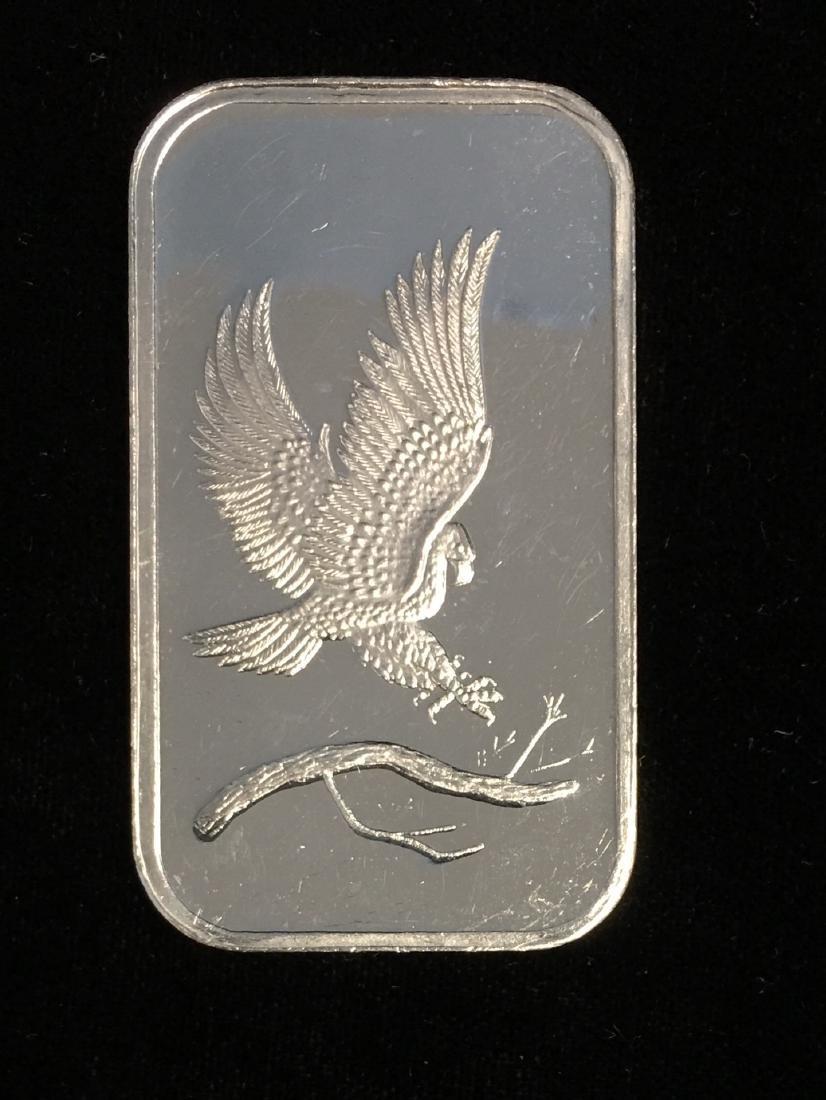 1 tr. oz .999 Fine Silver Eagle Silver Art Bar