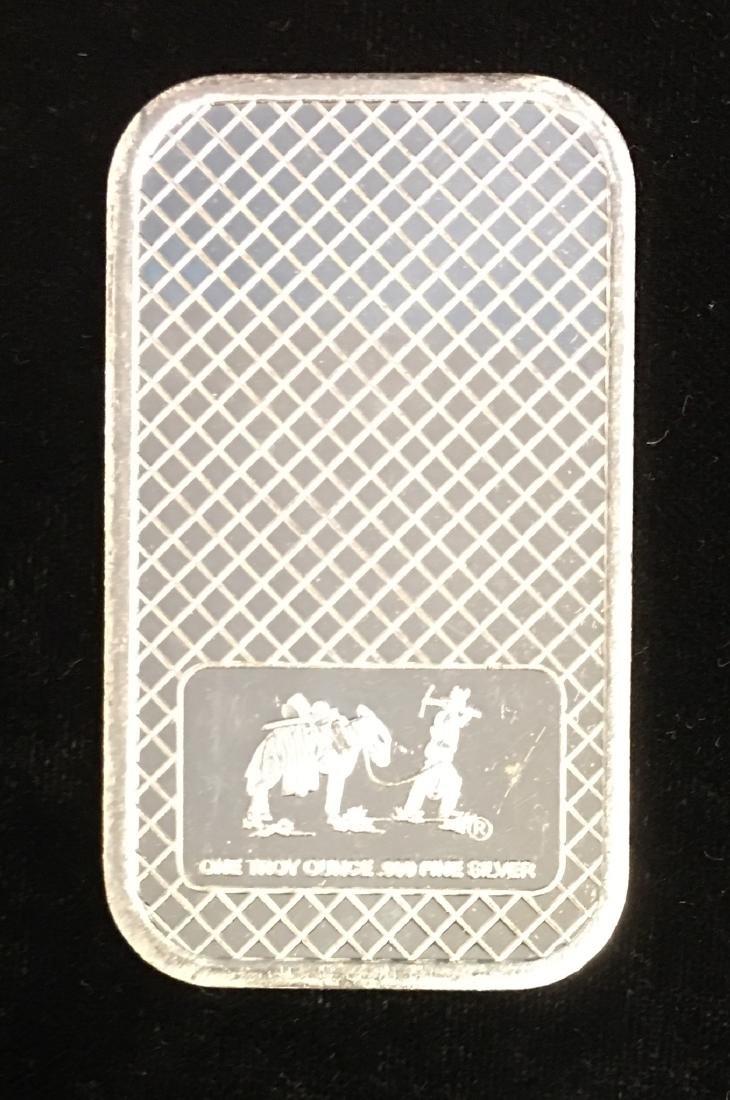 1 tr. oz .999 Fine Silver Eagle Silver Art Bar - 2