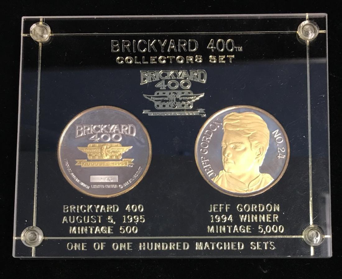 1994-1995 Brickyard 400tm & Jeff Gordon 2 Silver Rounds