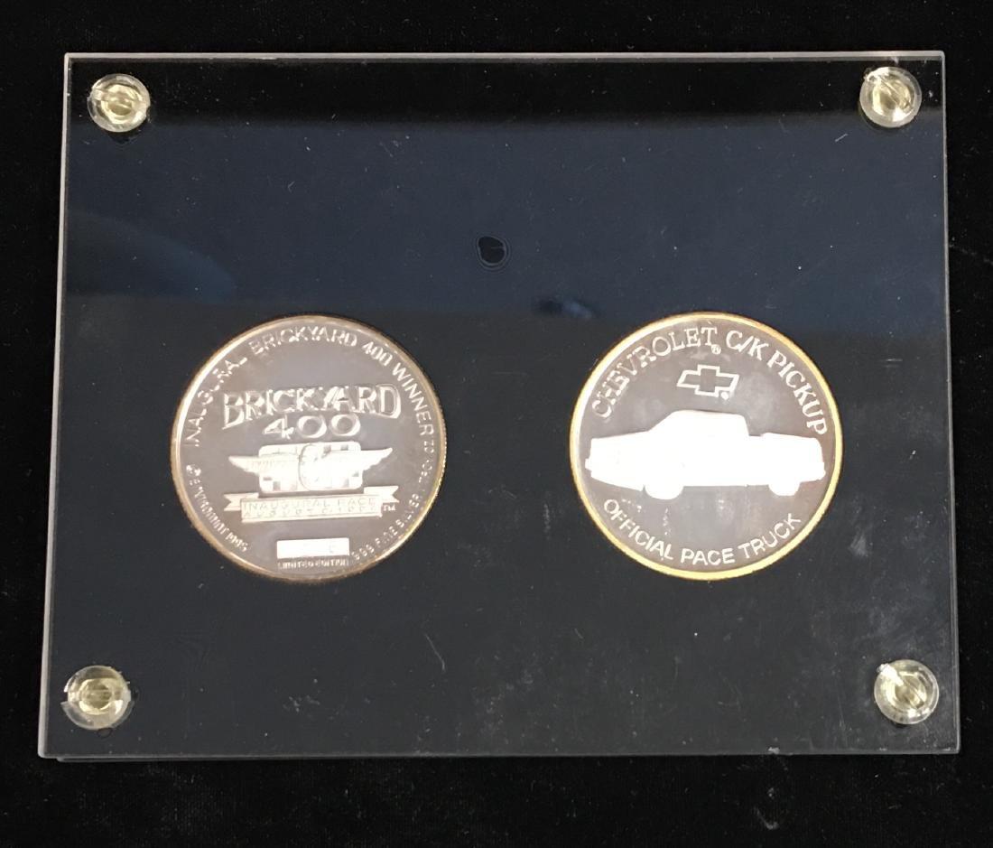 1994-1995 Brickyard 400tm & Jeff Gordon 2 Silver Rounds - 2