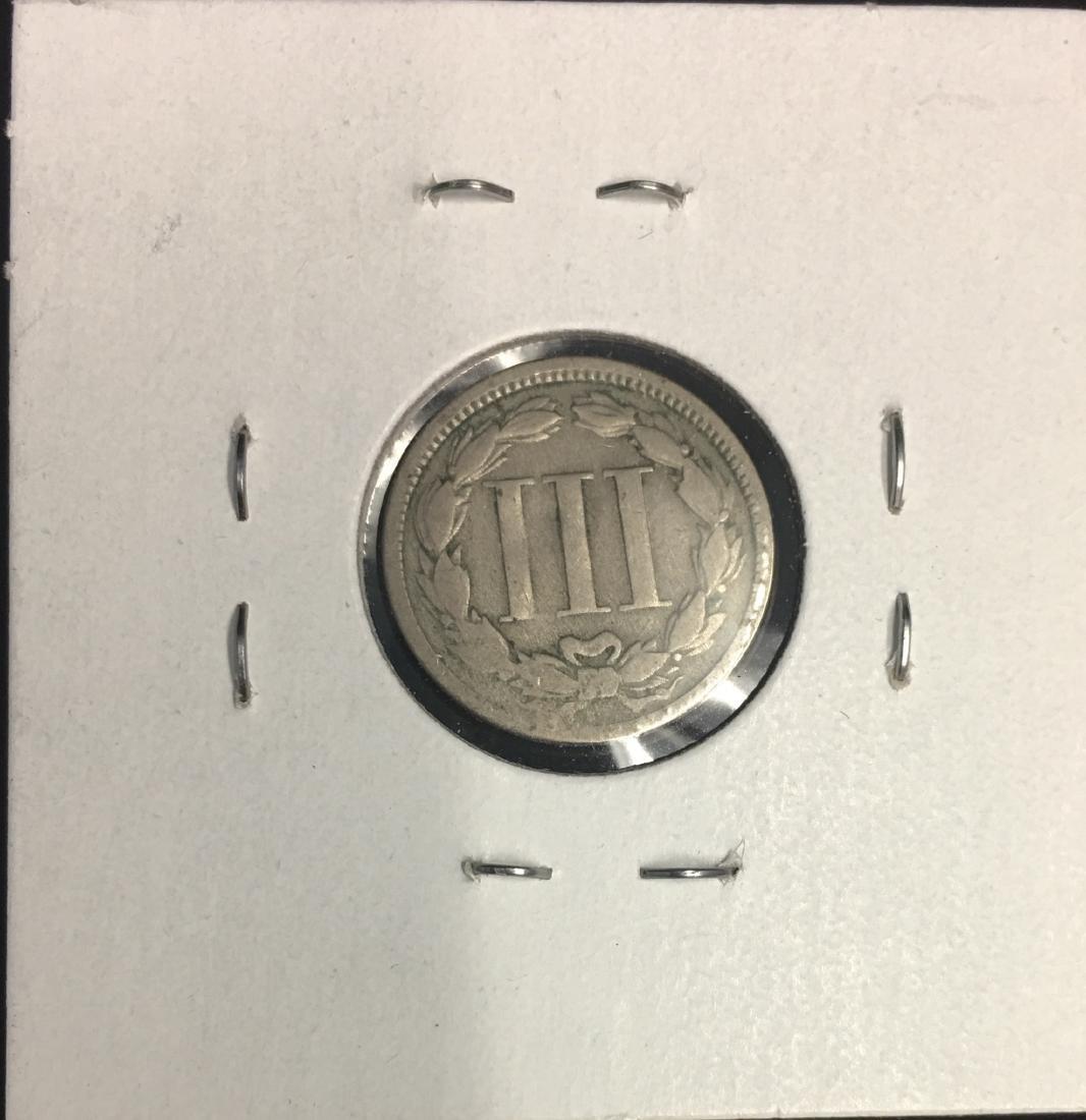 1865 3c Nickel Three-Cent Piece VG-F - 2