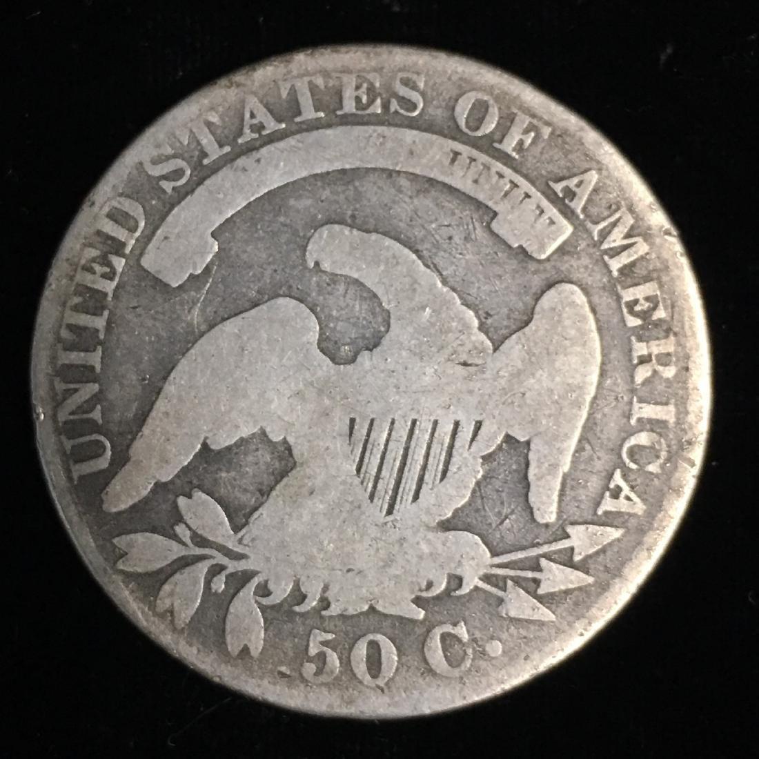 """1830 50c Bust Half Dollar Small """"0"""" Good - 2"""