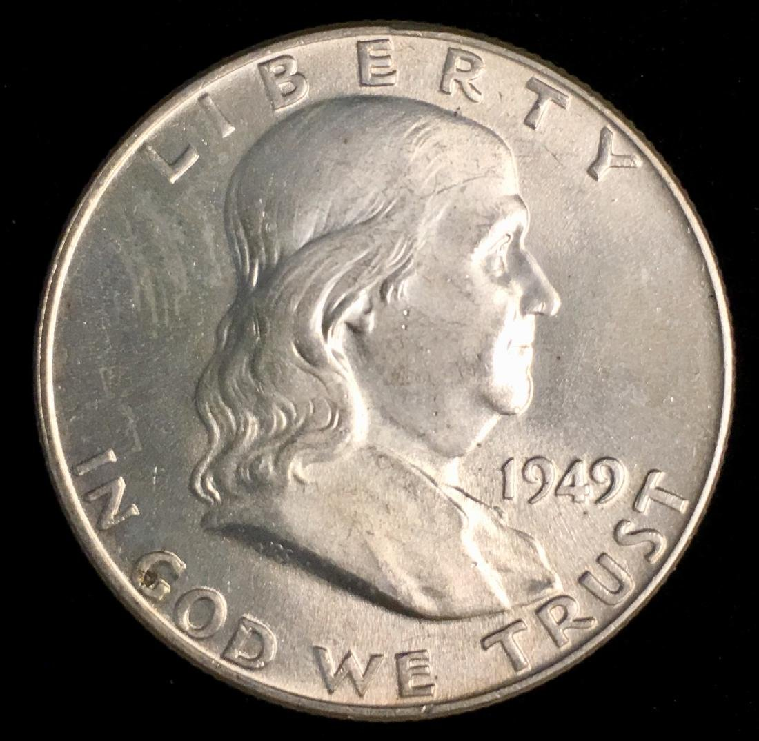 1949-P 50c Franklin Half Dollar PBU